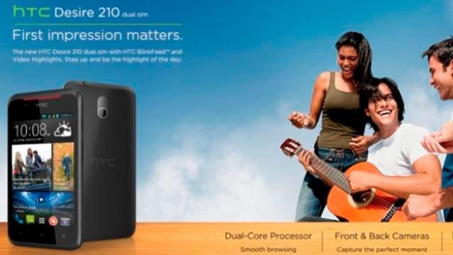 Desire 210 Dual SIM анонсирован в Индии
