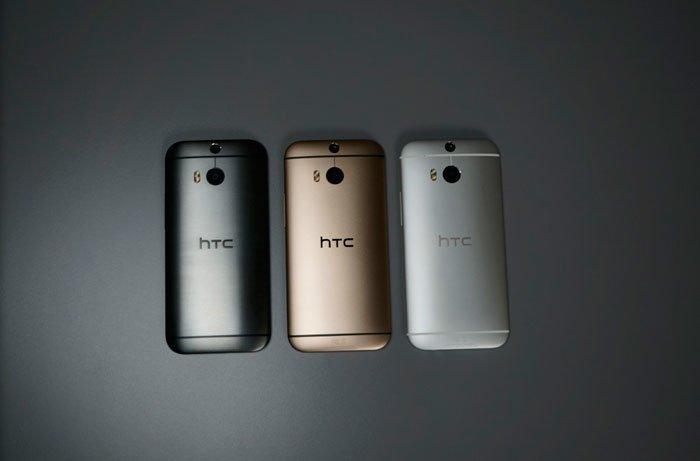 Три цвета корпуса HTC One M8