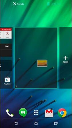 Размещение ярлыка на рабочем столе в HTC Sense 6.0