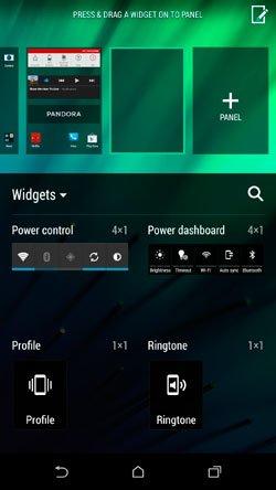 Меню добавления программ и виджетов в HTC Sense 6.0