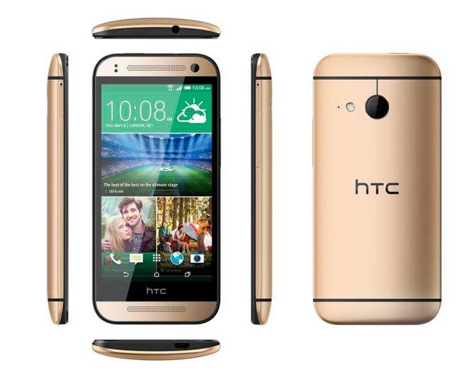 Золотистый HTC One mini 2
