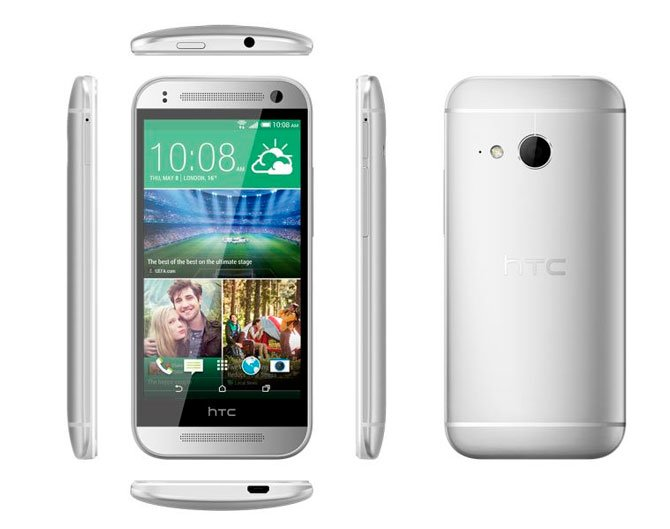 Серебристый HTC One mini 2