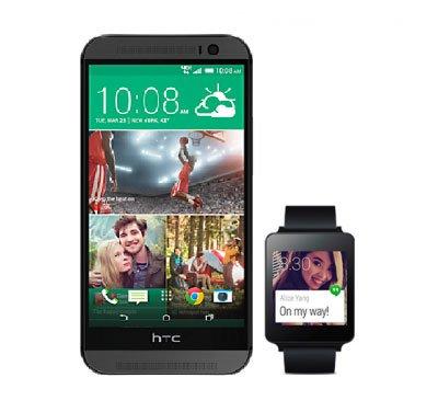 Android Wear совместим с новыми смартфонами от HTC