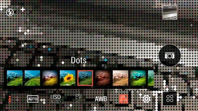Интерфейс камеры в HTC Desire 816