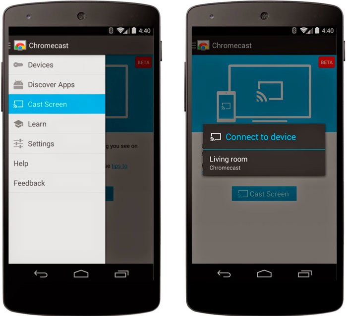 HTC One M7 научился дублировать экран через Chromecast