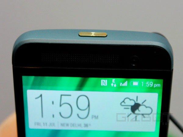 HTC One E8: кнопка включения
