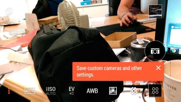 Интерфейс камеры в HTC One mini 2