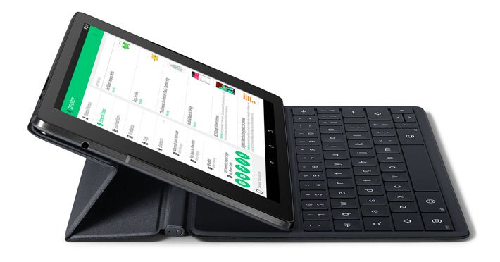 HTC Nexus 9 с чехлом-клавиатурой