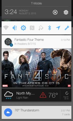 В центре уведомлений HTC добавили рекламу